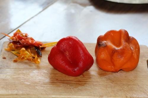 Жареный болгарский перец под луково чесночным соусом