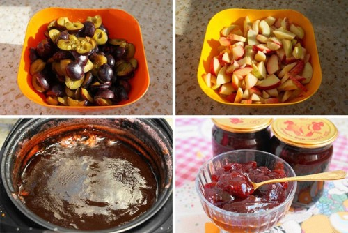 Яблочно-сливовое варенье в мультиварке