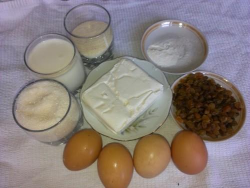 Творожная запеканка с молоком в мультиварке