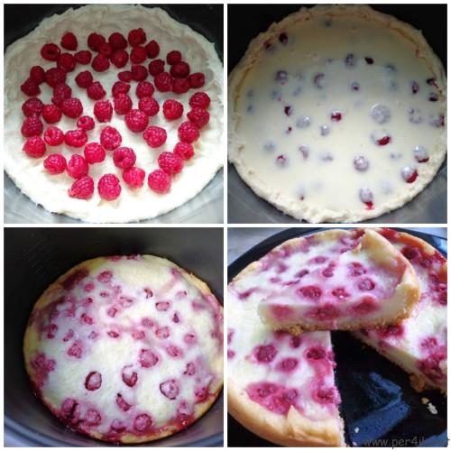 Творожная запеканка с ягодами в мультиварке
