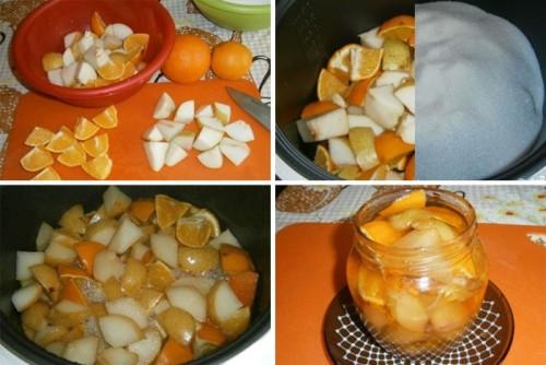 Заготовка на зиму груш в мультиварке