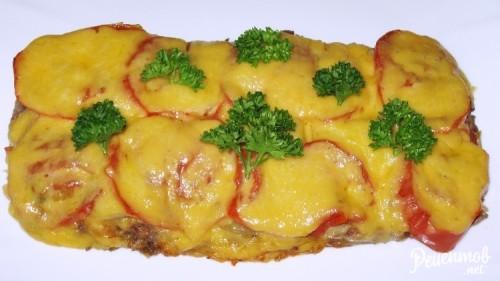 Куриное филе с помидорами и сыром в мультиварке