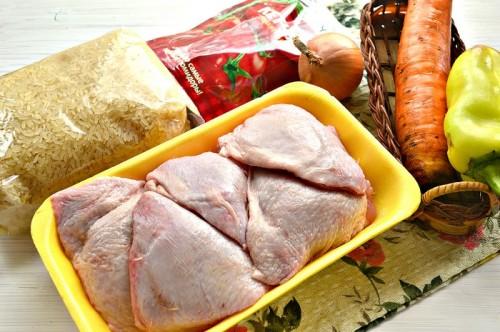 Плов с куриным мясом и грибами в мультиварке