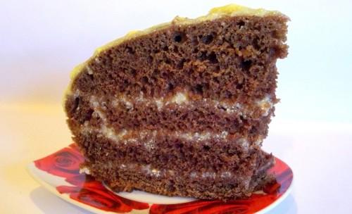 Торт с заварным кремом в мультиварке