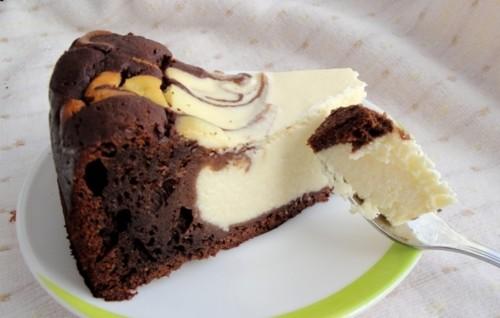 Шоколадно творожный торт в мультиварке